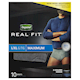 Depend Real Fit Mens Briefs L/Xl 10 Briefs