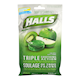 Halls Triple Soothing Action no Sugar Added Kiwi Apple 25 Cough Tablets