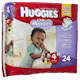 HUGGIES little Movers Diapers Size 4 22 - 37 Lbs 24 Diapers