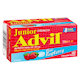 Junior Strength Advil Ibuprofen 100 mg Tablets Usp Blue Raspberry 40 Chewable Tablets
