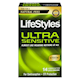LifeStyles Ultra Sensitive Premium Lubricated Latex Condoms 14 Condoms