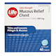 Life Brand Extra Strength Mucous Relief Chest Guaifenesin Tablets 400mg 40 Tablets