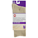 Life Brand Diabetic Dress Socks Crew Ladies Size 9-11 Tan