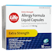 Life Brand Extra Strength Allergy Formula Liquid Capsules Diphenhydramine Hydrochloride 50mg x 10 Capsules