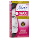 Nair Brazilian Spa Clay Easy to Use Wax Strips Face & Bikini 40 Wax Strips + 4 after Use Moisturizing Towelettes