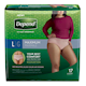 Depend Fit - Flex Incontinence Underwear for Women, Maximum Absorbency, Large,17 count