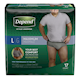 Depend Fit - Flex Incontinence Underwear for Men, Maximum Absorbency, Large,17 count