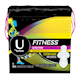 U by Kotex Fitness Ultra Thin Pads with Wings, Regular Absorbency, Fragrance-Free, 15 Count