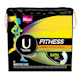 U by Kotex Fitness Panty Liners, Light Absorbency, Long, Fragrance-Free, 64 Count